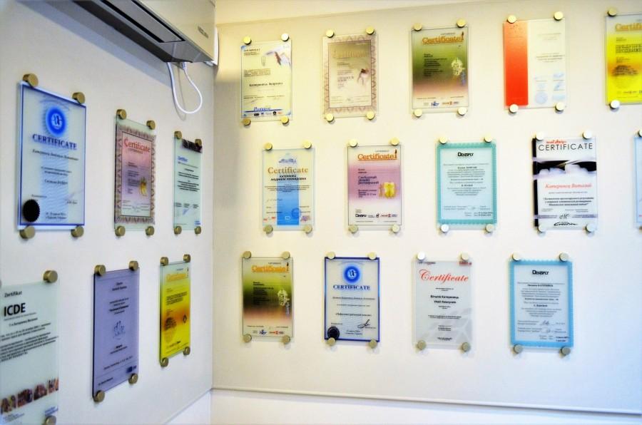 Семейная стоматология Запорожье сертификаты